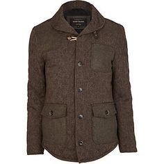 Brown tweed patch jacket - jackets - coats / jackets - men (£75.00) - Svpply