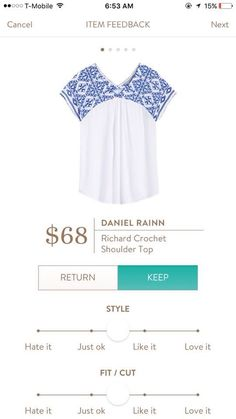 **** Blue and white embroidered top. Stitch Fix Fall, Stitch Fix Spring Stitch Fix Summer 2016 2017. Stitch Fix Fall Spring fashion. #StitchFix #Affiliate #StitchFixInfluencer