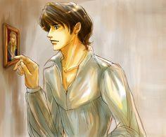 「ベル男性キャラ絵まとめ」/「rose_residence」の漫画 [pixiv] | Eroica. Alain and Oscar's portrait in his house