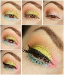 'Spring Makeup' look by VenaStyl using Makeup Geek's Creme Brulee, Latte, and Mirage eyeshadows.