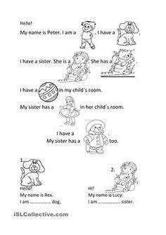 There are four exercises. The topic is toys.1. Story (pictures instead words)have x has2. Possessive pronouns A. VocabularyMatching the words wih the picturesB. Easy quiz - ESL worksheets