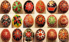 Pysanky with a ruzha motif from the Ivan Honchar museum, a mix of modern and traditional..