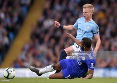 Oleksandr Zinchenko of Manchester City is tackled by Ricardo Pereira of Leicester City during the Premier League match between Manchester City and Leicester City at Etihad Stadium on May 2019 in. Get premium, high resolution news photos at Getty Images Manchester City, Manchester United, Premier League Matches, Leicester, United Kingdom, Baseball Cards, Running, Sports, Image
