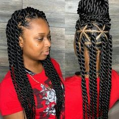 Braids Hairstyles Pictures, Twist Braid Hairstyles, Braided Hairstyles For Black Women, African Braids Hairstyles, Fancy Hairstyles, Roll Hairstyle, Fashion Hairstyles, Senegalese Twist Hairstyles, Hairstyles 2018