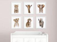 African Baby Animal, Nursery Print Set, Safari Nursery Art Prints, Animal Art, Baby Elephant, Giraffe, Monkey, Cheetah, Lion, Zebra by TinyToesDesign on Etsy https://www.etsy.com/listing/234931810/african-baby-animal-nursery-print-set