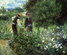 Pierre-Auguste Renoir Picking Flowers
