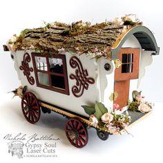 Pixie Hill: Woodsy Gypsy Wagon with Walk Through for Gypsy Sou...