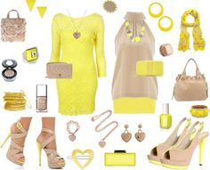 ShopStyle: Color Combo: Yellow & Nude by lilmisschanel