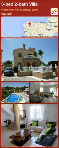 3-bed 2-bath Villa in Villamartin, Costa Blanca, Spain ►€235,000 #PropertyForSaleInSpain