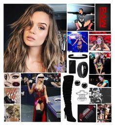 """⚫️ Gabriella ⚫️ - A Natural Valet"" by forgotten-memories on Polyvore featuring WWE, injury, 2028, Miadora, Belkin and Swarovski"