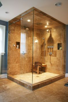 tiles on the (big) shower space, including ceiling (probably good to prevent mold)