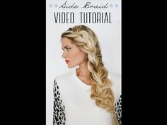 Side Braid Tutorial by Barefoot Blonde - YouTube