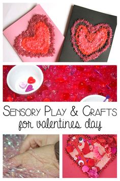 Valentines Sensory Play and crafts for toddlers and preschoolers