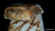 Le blog de Cata: Tacos lyonnais à la sauce gruyère Tacos, Lyonnaise, Wrap Sandwiches, Cata, Sauce, Cheddar, Biscuits, Chicken, Wraps