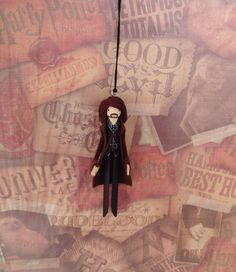Sirius Black Clothespin Doll Ornament by LittleParade on Etsy