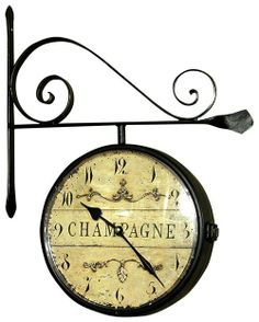 French Style Champagne Station Clock.