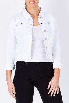 Wakee Jeans Selina Denim Jacket - Womens Jackets - Birdsnest Australia