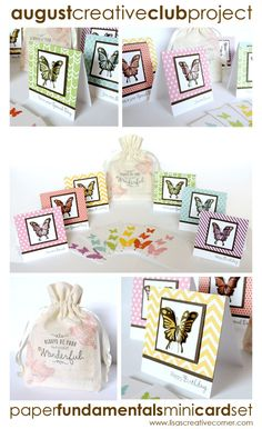 Lisa's Creative Corner: Paper Fundamentals Mini Card Kit