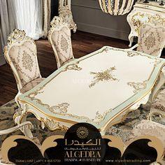 عراقة كلاسيكية بلمسات من ذهب اتصلوا بنا على 00971528111106  #cozy #Furniture #trading #Interior #Design #Decor #Luxury #Comfort #ALGEDRA #UAE #Dubai #MyDubai #creative #luminous #designs #luxurious #interiordesign #decoration #خشب #أثاث_غرف #غرف_نوم #فخامة #زجاج #تجارة #مفروشات #اثاث #الإمارت #دبي #غرف #الكيدرا Wallpaper Bedroom, Decor, Luxury Dining Room, Luxury Furniture, Furniture, Classic Dining Room, Classic Furniture, Shabby Chic Furniture, Girls Bedroom Wallpaper