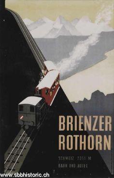 Brienzerrothorn Schweiz 2351 M Bahn und Hotel