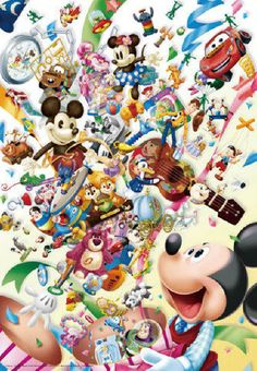 Tenyo Japan Jigsaw Puzzle D-1000-400 Disney All Characters (1000 Pieces) | Toys & Hobbies, Puzzles, Contemporary Puzzles | eBay!