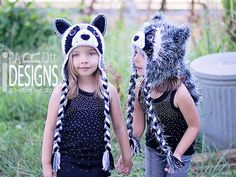 Handmade Crochet Raccoon Animal Hat for boys and girls of all ages www.irarott.com