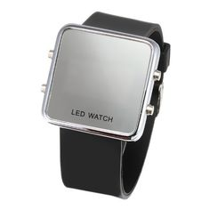 Luxury LED Mirror Digital Casual Sports Watch for Men and Women (Unisex) Silicone Jelly Band-Kare & Kind (Black)  #BandKare #Black #Casual #Digital #Jelly #Kind® #Luxury #Mirror #Silicone #Sports #Unisex #Watch #Women MonitorWatches.com