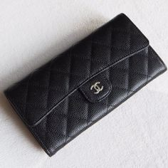 06467a714236f3 Chanel A80758-10 Quilted Long Flap Wallet