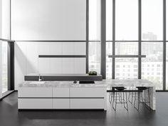 Diseña la cocina de tus sueños.  Con el nuevo porcelánico XLIGHT Premium tus ideas se hacen realidad. Todas las ventajas del porcelánico URBATEK - PORCELANOSA Grupo, ahora también como encimera de cocinas.  XLIGHT Premium PORTO Grey  - #countertop #archiproducts