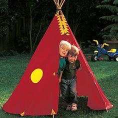 DIY-- backyard TeePee playhouse for the kids