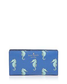 kate spade new york Cedar Street Stacy Seahorse Continental Wallet. WANT WANT WANT WANT WANT