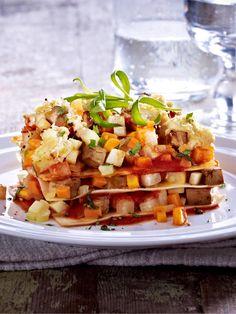 Tofu-Lasagne mit Gemüse