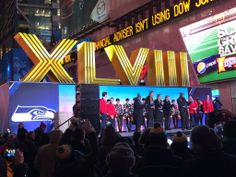 It's a Numbers Game: Ace Sign's Roman numerals XLVIII were a highlight of the Super Bowl Boulevard event. http://bigpicture.net/content/it-s-a-numbers-game