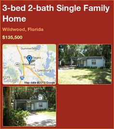 3-bed 2-bath Single Family Home in Wildwood, Florida ►$135,500 #PropertyForSale #RealEstate #Florida http://florida-magic.com/properties/9516-single-family-home-for-sale-in-wildwood-florida-with-3-bedroom-2-bathroom