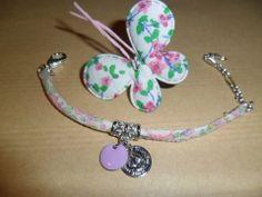 Bracelet liberty fin, fleuri rose, bleu, vert : Bracelet par chris-crea