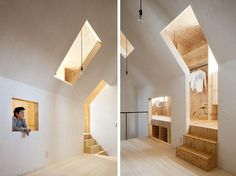 Con spazi ambigui e pochi elementi di partizione, gli architetti giapponesi hanno creato una casa unifamiliare destinata a essere percepita quasi come un nascondiglio.