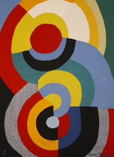 Tapisserie Rencontres by Sonia Delaunay Sonia Delaunay is all over Paris, especially with the current exhibit at the MAM: http://www.mam.paris.fr/fr/expositions/exposition-sonia-delaunay