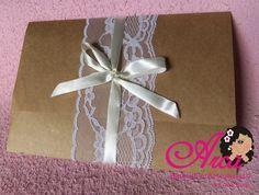 Convite de casamento no papel krafit