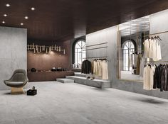 Master Plan: a Homage to Industrial Concrete Concrete Look Tile, Concrete Molds, Concrete Floors, Limestone Flooring, Brick Cladding, Wall Cladding, Alvar Aalto, Bathroom Floor Tiles, Wall And Floor Tiles