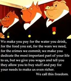 We definitely are not free...