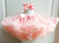 Gorgeous peach petti-skirt available to buy from Rubymos RosesandBows on facebook