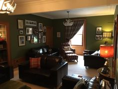 The days getting shorter and the nights cooler - perfect time to sit inside and enjoy our beautiful guest lounge . Corner Desk, Desk, Furniture, Inside, Lounge, House, Home Decor