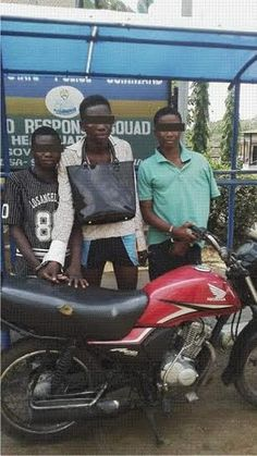 148733afed0d Operatives of the Rapid Response Squad of the Lagos State Police Command  have arrested three teenage robbers