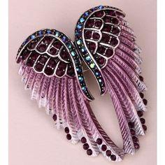Angel wings brooch pin pendant