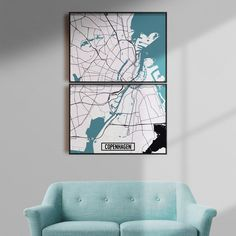 Copenhagen map print | 22-120€ | Different sizes | 32 color schemes | Free shipping within EU and USA   Looking for home decor? Take a look at our prints and posters and city maps! Great ideas for living room, dorm room, bedroom. Want some Scandinavian interiors? Or just a modern interior design? Our minimalistic wall art will help you with that!    #walldecor #homedecor #homedesign #minimalisticwallart #moderninteriordesign #modernlivingroom #bedroomideas #apartmentdecor Map Wall Art, Map Art, Poster Wall, Copenhagen Map, Minimalist Poster Design, Staircase Wall Decor, Modern Interior, Interior Design, Simple Poster
