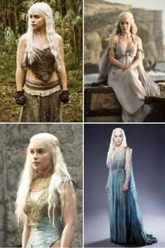 love her she is the true Queen Team Daenerys Targaryen and i love the left 2 outfits she wears! Emilia Clarke, Danarys Targaryen, Larp, Game Of Thrones Books, Khaleesi, Daenerys, Game Of Thrones Costumes, Iron Throne, Mother Of Dragons