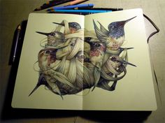 The Colored Pencil Drawings of Marco Mazzoni