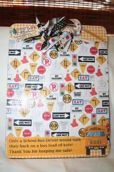 REDUCED School Bus Driver Clip Board by seeknfindcomforts on Etsy, $10.00