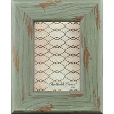 Home Accents Distressed Wooden Farmhouse Picture Frame / Photo Frame