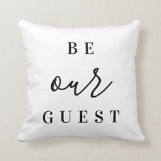 Basement Guest Rooms, Guest Bedroom Office, Home Decor Bedroom, Modern Rustic Homes, Modern Farmhouse Decor, Farmhouse Throws, Home Decor Shops, Custom Pillows, Throw Pillows